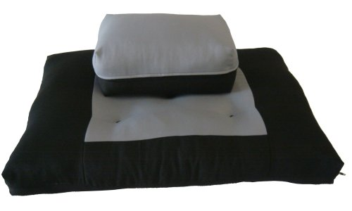 Brand New Black/Gray Zabuton Zafu Set, Yoga, Meditation Seat Cushions, Kneeling, Sitting, Supporting Exercise Pratice Zabuton & Zafu Cushions.