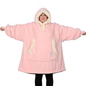 Snug Rug Eskimo Couverture à Capuche surdimensionnée Super-Douce et Chaude en Tissu Sherpa Polaire Taille Unique et…