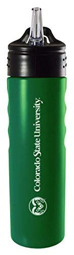 - LXG, Inc. Colorado State University-24oz. Stainless Steel Grip Water Bottle with Straw-Green