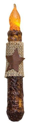 Heart of America Burnt Mustard Burlap/Star Timer Taper