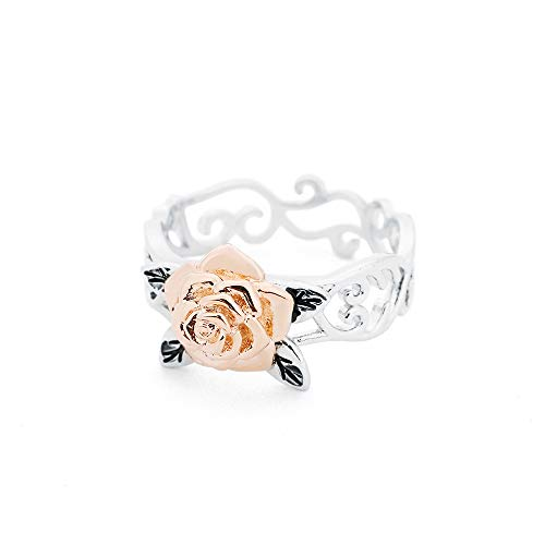 (Souarts Two-Tone Rose Engagement Ring)