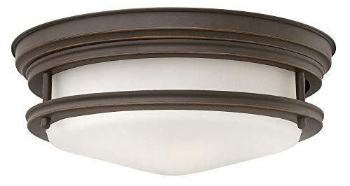 Hinkley 3302OZ Restoration Two Light Flush Mount from Hadley collection in Bronze/Darkfinish, (Outdoor Hinkley Mount)