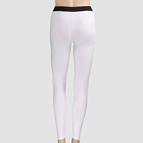 Paymenow Women Sports Trouser Gym Workout Fitness Contrast Color Capris Yoga Pant Legging