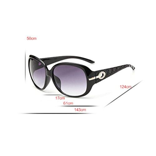 Gafas ZYXCC Mujeres Vendimia Sol Sol YANJING Moda de Color Gafas UV Las de Sol Brown Leopard de Blanco de la Gafas de de TCnUSwqYUX