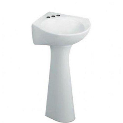American Standard 0611.400.020 Cornice Pedestal Lavatory 4-Inch Center Sink, (Corner Pedestal Lavatory)