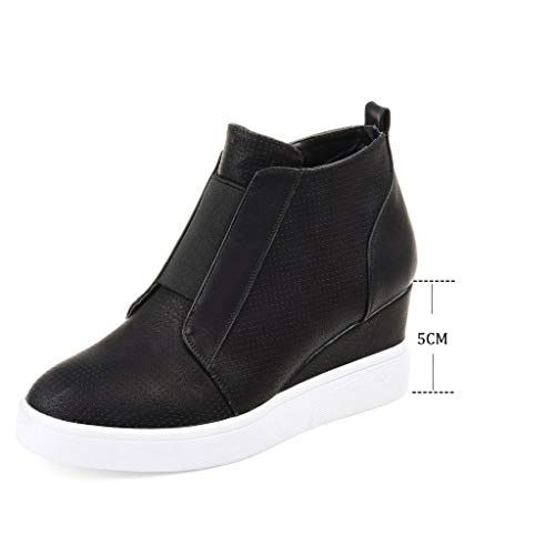 34 Ladies Black Black Flat Ankle Boots Hidden with Trainers 5cm Classics Fashion Platform Zip Shoes Wedge Winter Boots Booties Blue Chelsea Pink 43 Women Heeled Comfortable RRg4qr