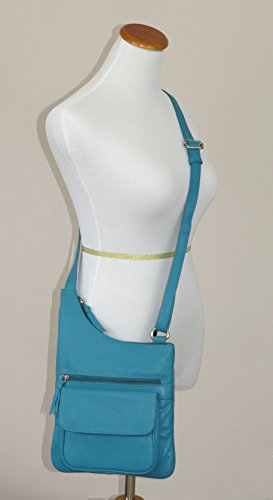 Shoulder Crossbody Leather Easy 134 Bag Pielino Genuine Brown qwAvxIqtP