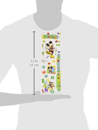 Sandylion Mickey 4 X 12 Embossed Paper Tall Stickers Multi