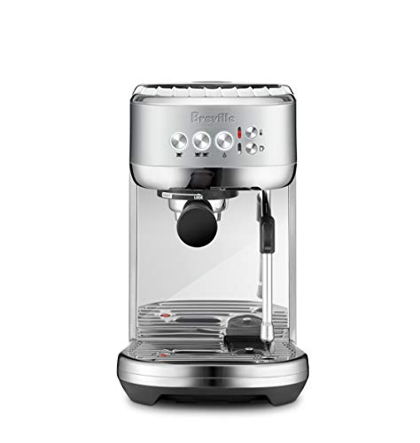 Breville Stainless Steel Espresso Maker - Breville BES500BSS Bambino Plus Espresso Machine, Brushed Stainless Steel