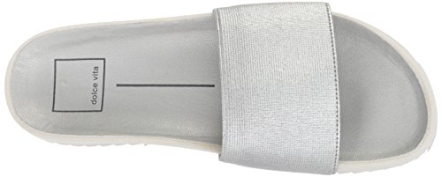 Slide Dolce Sonia Elastic Women's Silver Sandal Vita tUH7Ux