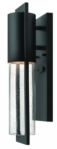 Hinkley 1326BK Transitional One Light Wall Mount from Shelter collection in Blackfinish, from Hinkley