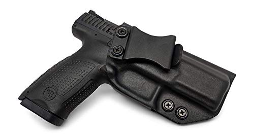 Concealment Express IWB KYDEX Gun Holster, fits: CZ P-10 C - Custom Molded Fit - US Made - Inside Waistband Concealed Carry Holster - Adj. Cant & Retention (BLK - RH)