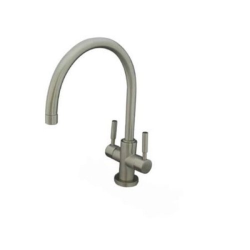 Kingston Brass KS8298DL Concord Vessel Sink Faucet without Pop-Up & Plate, Satin Nickel, 8-1/2