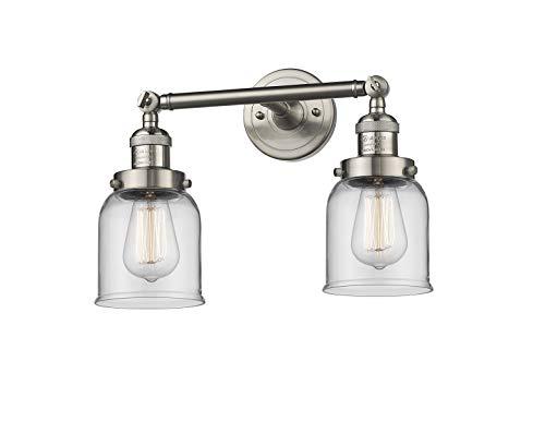 Innovations Lighting 208-SN-G52 2 Light Bathroom Fixture, Brushed Satin Nickel from Innovations Lighting