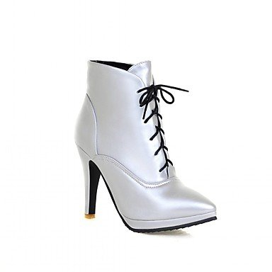 RTRY Women'S Boots Spring Fall Winter Platform Comfort Novelty Patent Leather Leatherette Wedding Office &Amp; Career Dress Casual Party &Amp; Evening US9 / EU40 / UK7 / CN41 COWLIz