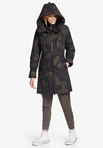 Noir Manteau D'hiver 2 1128jk183 Femme Pour Jerry Khujo Prime marron wq8ppO
