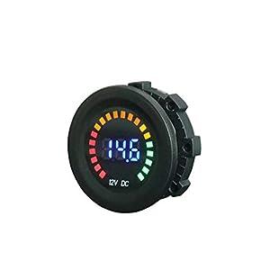 SUBALIGU 12V 24V Volt Meter LED Digital Display DC Voltmeter Voltage Meter with Terminals for Car Automobiles Motorcycle Truck Boat Marine