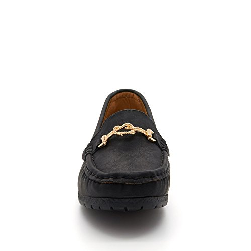 con cuña negro London Negro Sandalias Footwear mujer gAxSHwq