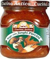 Cucina Antica - Salsa con Champiñones - Caja con 12 tarros de 200 g cada uno