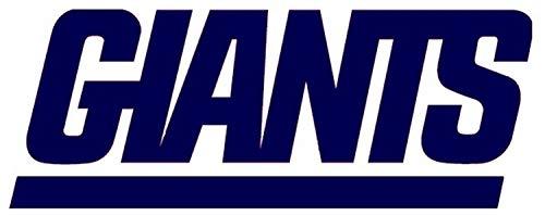 New York Giants Font Die Cut Vinyl Sticker Decal