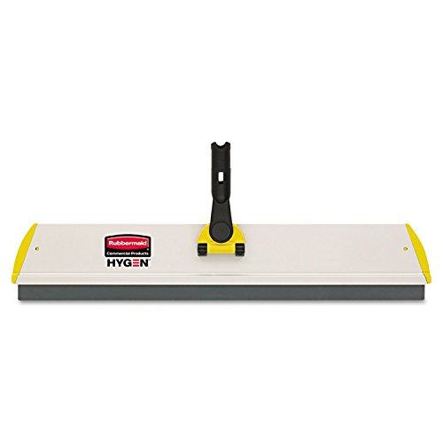 Rubbermaid Commercial HYGEN Q570 HYGEN Quick Connect S-S Frame, Squeegee, 24w x 4 1/2d, Aluminum, Yellow