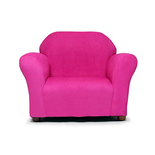 (Keet Roundy Microsuede Children's Chair, Hot Pink)