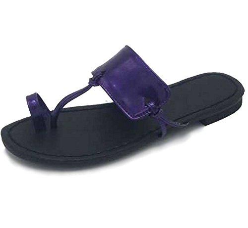 35 Purple Zapatillas Grande Gran Mujer Nvxie Chancletas De Tamaño 38 Salón CqOvn84w