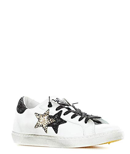 Pelle Donna Sneakers Bianco 2star 2sd2003 tBPdwtFq