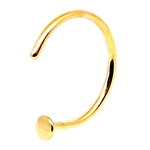 Gemini body jewellery Piercing de nez en acier chirurgical plaqué titane Doré 8 mm