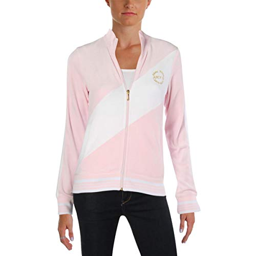 - Juicy Couture Black Label Women's Velour Sporty Heritage Jacket, Whisper Pink, S