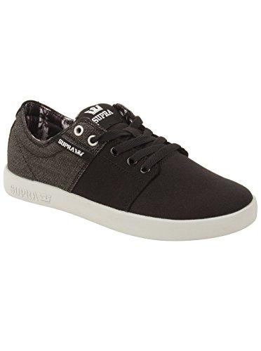 Supra Hombres Stacks Ii Sneaker En Negro / Gris 7.5 M Us