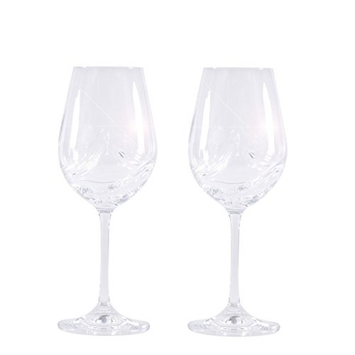 Red Bordeaux Blends Wine (Large Stem Red Wine Glasses Set of 2, Aerating, Bohemia Crystal Glassware for Bordeaux, Merlot Blends - European Quality, Luxury, 11.8 Ounces)