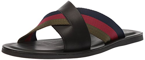 Kenneth Cole New York Men's Kirby B Flat Sandal, Black Combo, 12 M (Kenneth Cole Rubber Sole Sandals)