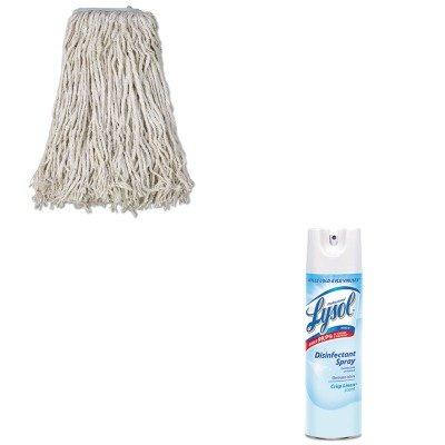 KITBWKCM02032SRAC74828CT - Value Kit - Boardwalk Cotton Mop Head (BWKCM02032S) and Professional LYSOL Brand Disinfectant Spray (RAC74828CT)