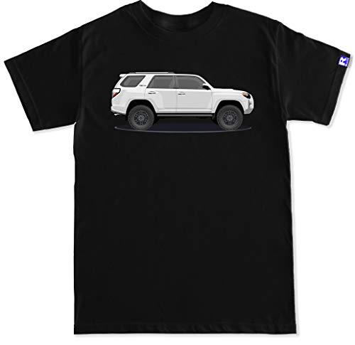 FTD Apparel R Built Men's TRD 5th Gen White 4Runner T Shirt - XL Black