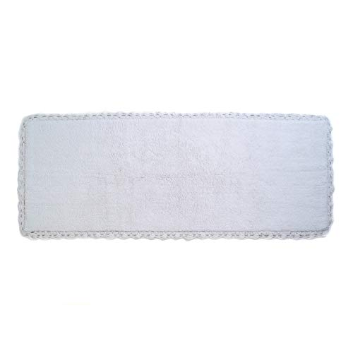 Crochet Bath Runner, 22 by 60-Inch, White