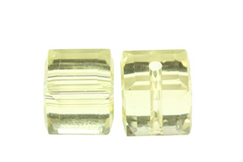 24pcs 8mm Adabele Austrian Cube Crystal Beads Jonquil Yellow Compatible with Swarovski Crystals Preciosa 5601 SSC809