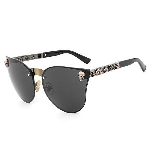 De Gafas Frame De Sol De Sol Gafas Metal gray Hombre Gafas Skull Dorado Sol gun FKSW De Gafas Sol BgwIpp