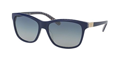 Tory Burch Women's TY7031 Sunglasses Navy/Blue Zig Zag / Blue Gradient - Tory Burch Sunglasses Blue