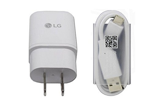 Original LG Fast Charger MCS-H05WD with Type C Cable DC12WB-C EAD63849201 for LG G5 H820, H830, LS992, US992, VS987 in Non-Retail Packaging.