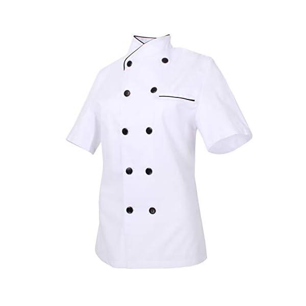 MISEMIYA - Chaquetas Chef Uniforme COCINERA MARMINTÓN SOLLASTRE GUISANDERO ADOBADOR Salsero- Ref.8441 2