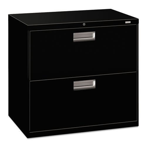 Drawer 2 Lateral File 30w - Hon Company 600 Series Two-Drawer Lateral File, 30W X19-1/4D, Black Hon672Lp