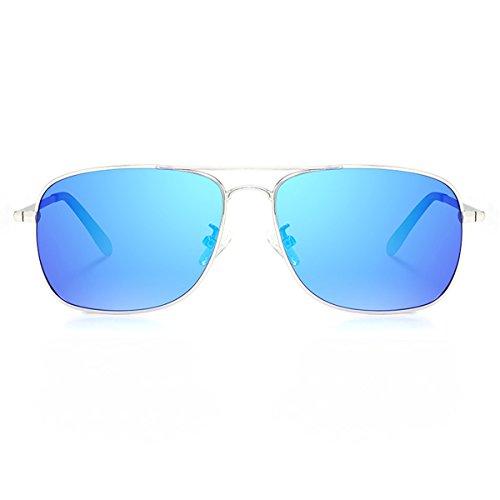 Las Gafas de Plata de polarizadas Gafas y Hielo 8001l conduciendo de Sol de Sol de Marco Hombres Hombres Los KOMNY Azul Gafas conduciendo xZHU4tx