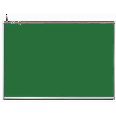 All Purpose Professional Wall Mounted Magnetic Chalkboard Surface Color: Slate, Size: 3' H x 5' W by Aarco