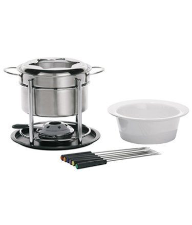 (Trudeau Sorento 3-in-1 Fondu Set, 60 oz, Stainless Steel)