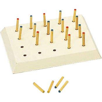 【リハビリテーション用】 ペグボード 小 (指先つまみ練習用) B00AZVJY2Y   小 (指先つまみ練習用) ペグサイズ:5Φ×35mm