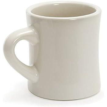 Amazon Com 8 Oz Ounce White Diner Style Coffee Mug