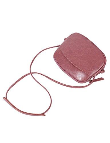 Sac à bandoulière en cuir véritable pour femmes, gris clair, rose 0925