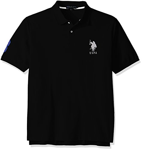 U.S. Polo Assn. Men's Big and Tall Solid Short-Sleeve Pique Polo Shirt