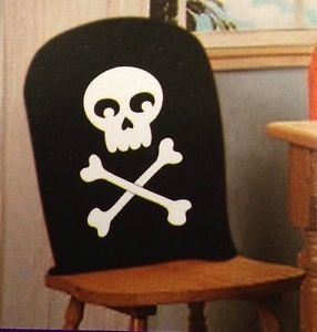 Skeleton Halloween Chair Covers (Pack of (Skeleton Chair)
